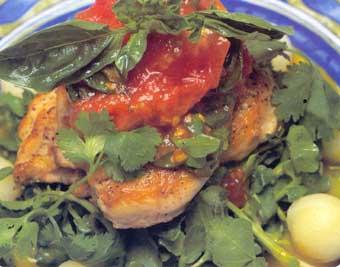 Dusené kuracie prsia s paradajkami