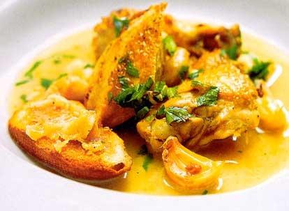 Citrónové kura s duseným cesnakom