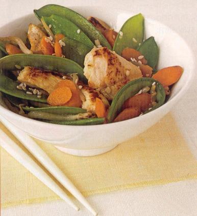 Kura restované so zeleninou