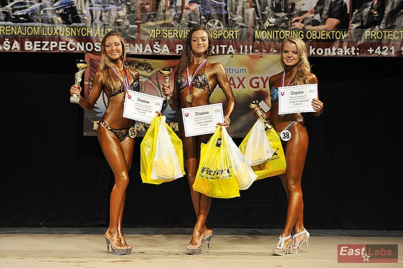 Fitness dorasteniek (zľava): 2. Ďarmatiová, 1. Kožuchová, 3. Kubovčíková.
