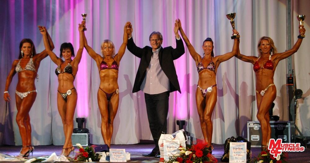 Fitness lady: 5. Hollá, 4. Bariová, 3. Dudíková, 1. Stasová, 2. Čontošová.