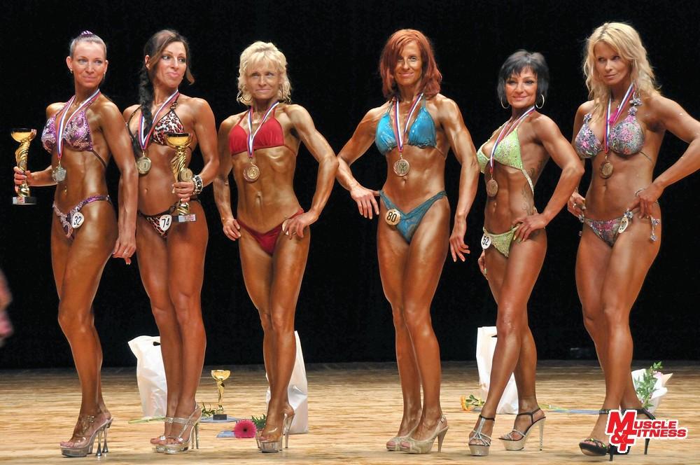 Fitness lady: 2. Stasová, 1. Fiedlerová, 3. Dudíková, 4. Wintzlerová, 5. Bariová, 6. Mišíková.