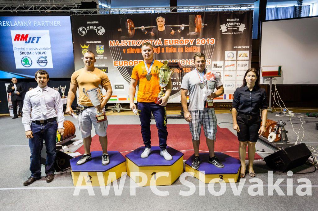 Najlepší juniorskí trojbojári v absolútnom poradí (zľava): Ádam Baksza (Maďarsko), Erik Jaškanič (SR), Patrik Navara (ČR).