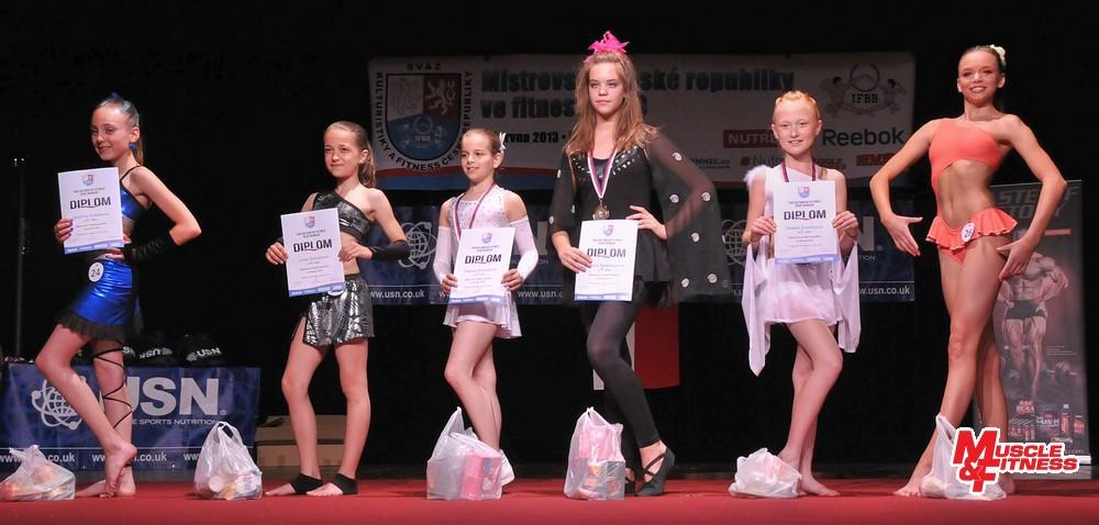 Fitness děti – dívky nad 10 let: 6. Knápková, 4. Dulovcová, 2. Kohoutová, 1. Šalamounová, 3. Dvořáková, 5. Černo.