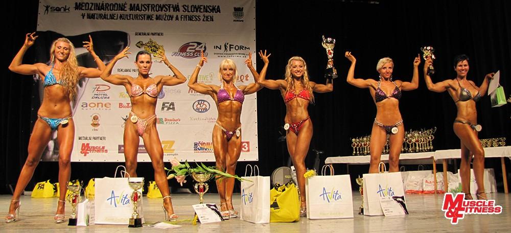 Fitness figúra: 5. Roháčová, 3. Avranová, 1. Hauserová, 2. Žigalová, 4. Bamburáková, 6. Herczog.