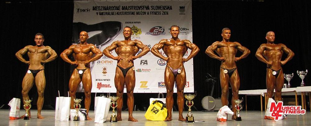 Muži nad 180 cm: 5. Bojarský, 3. Lénárd, 2. Vanko, 1. Caha, 4. Kováč, 6. Tóth.