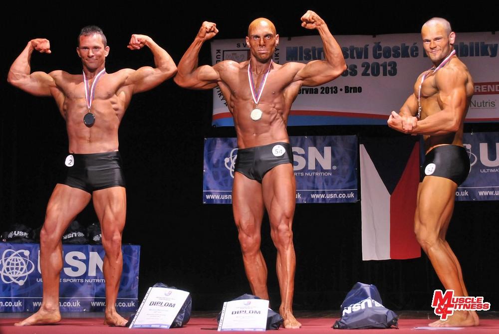 Atletické fitness - muži: 2. Němeček, 1. Bílík, 3. Kotlík.