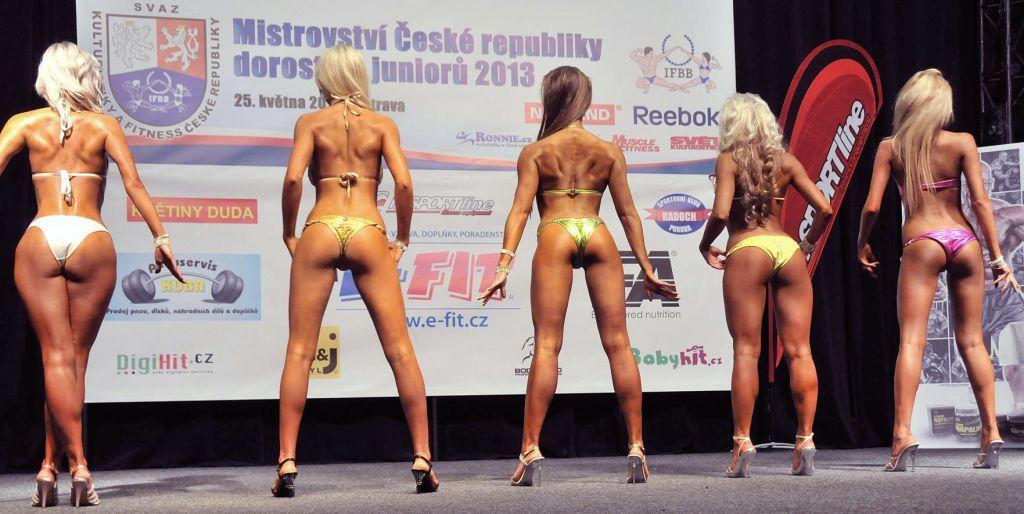 Půvaby kategorie bikini potěšily zejména oko mužského diváka.