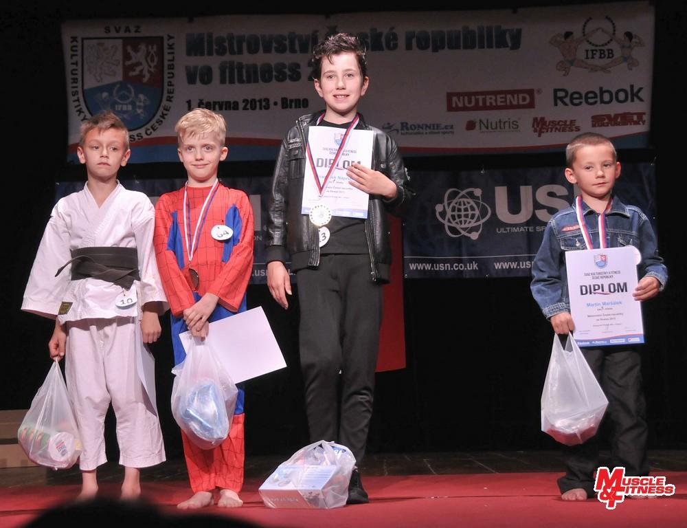 Fitness děti – chlapci: 4. Špaček, 2. Fiala, 1. Náprstek, 3. Maršálek.