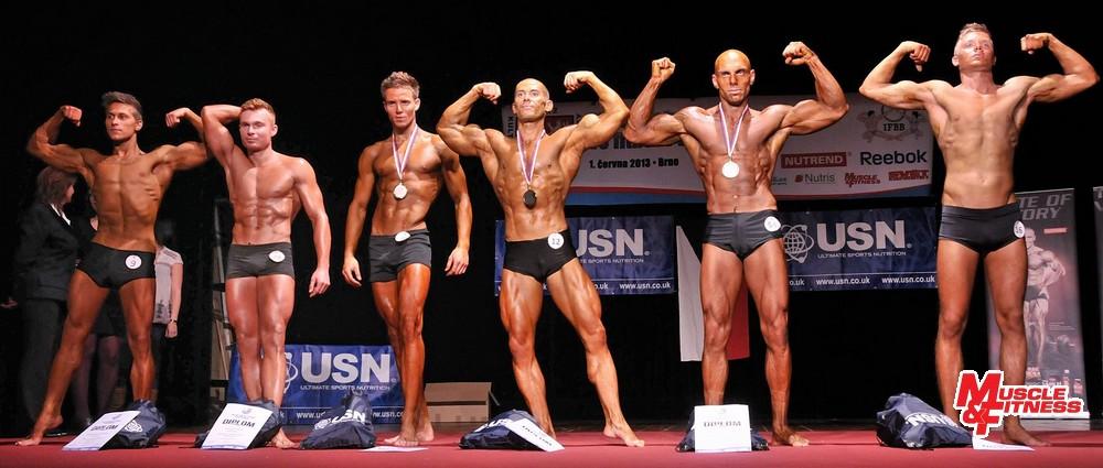 Fitness muži: 6. Gunčík, 4. Siwek, 2. Novák, 1. Koumal, 3. Bílík, 5. D. Otisk.
