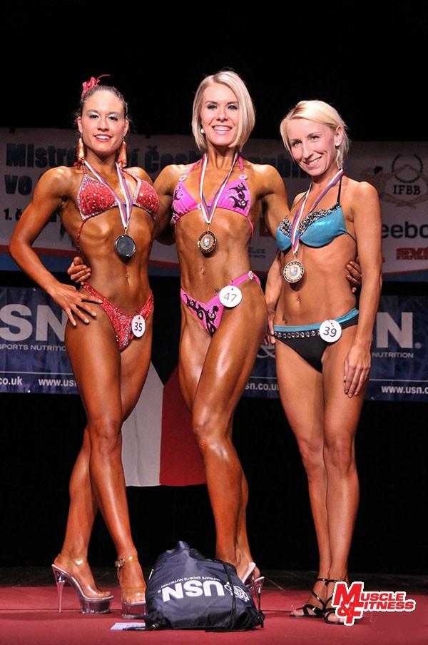 Fitness ženy: 2. Krejcarová, 1. Šťastná, 3. Balková.
