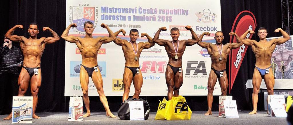 Junioři do 70 kg: 6. Ryšavý, 4. Klein, 2. Rašner, 1. Musil, 3. Lapčík, 5. Hollesch.