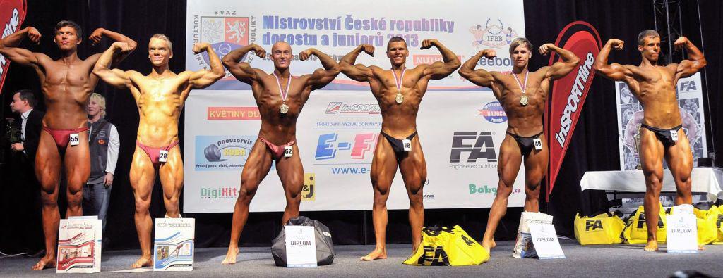 Starší dorost nad 72 kg: 6. Šmucr, 4. Malina, 2. Krčka, 1. Prchal, 3. Stříbný, 5. Kuric.
