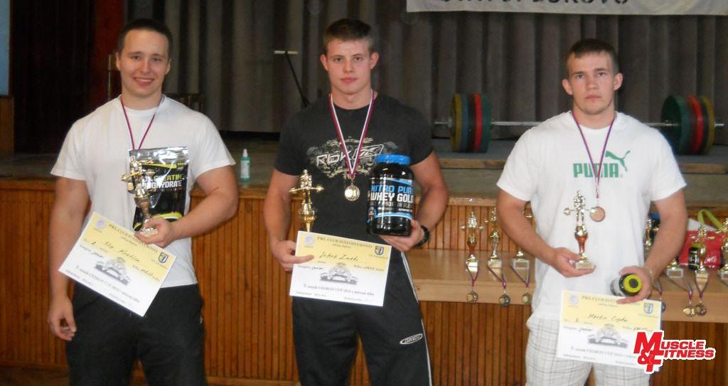 Juniori: 2. Filip Kratina, 1. Jakub Zmeko, 3. Martin Cipka.