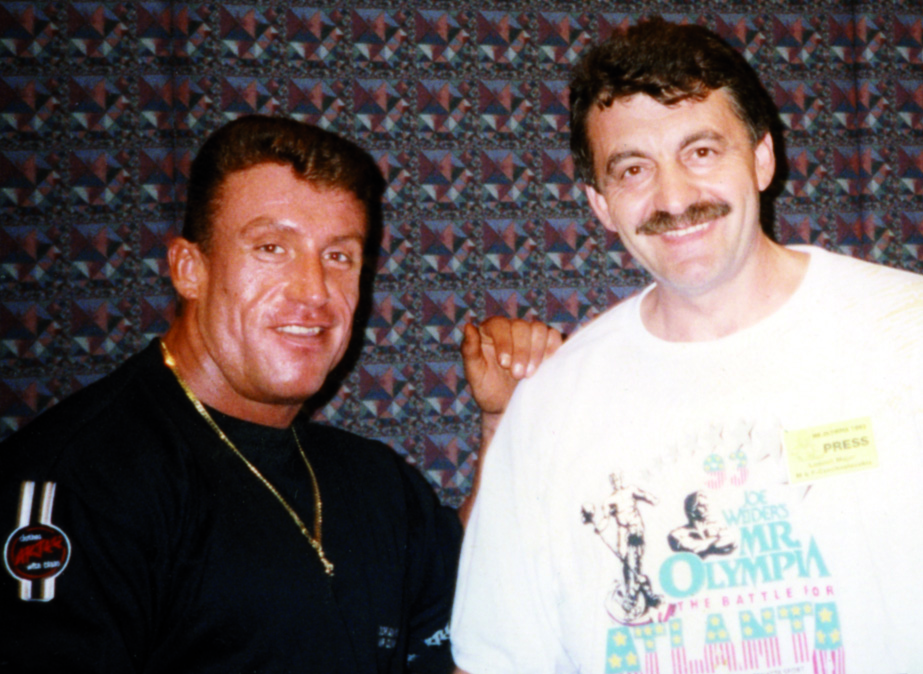 S Dorianem Yatesem na Mr. Olympia 1993 v Atlantě...