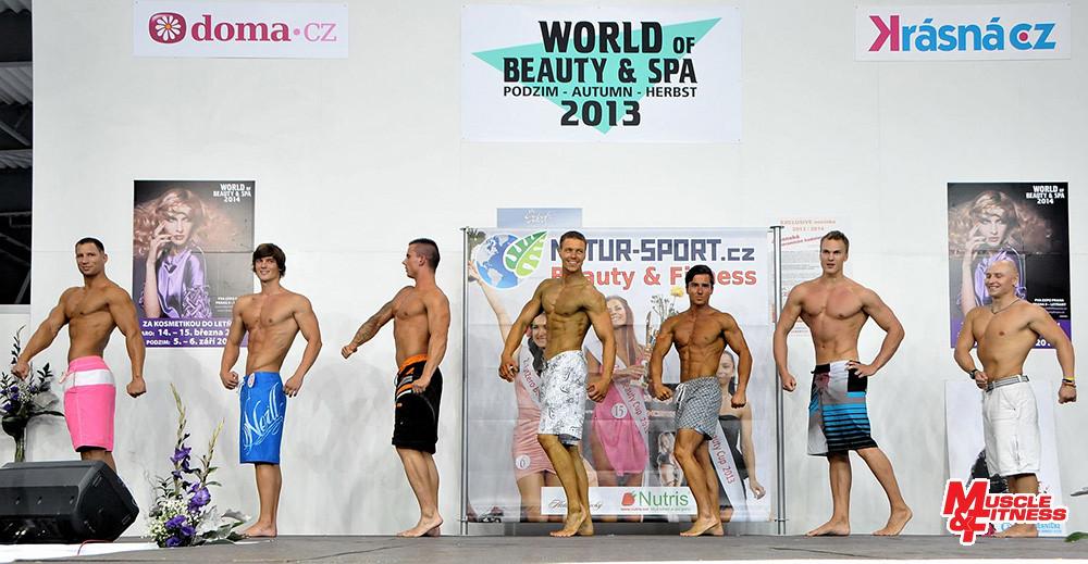 Porovnávání ve fitness physique: Šlechta, Komosný, Kňourek, Kadoun, Chrástek, Ďurán, Cetkovský.