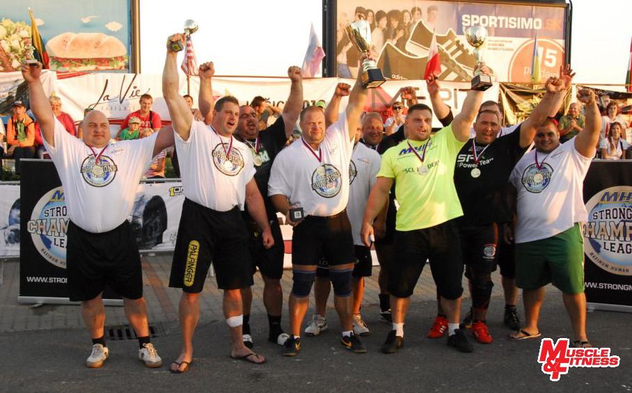 Účastníci Strongman Champions League Košice 2013 (zľava): Blekaitis, Wildauer, Katona, Nämi, Zageris, Stegnar, Radzikowski, Nagy, Svoboda, Puzsér.