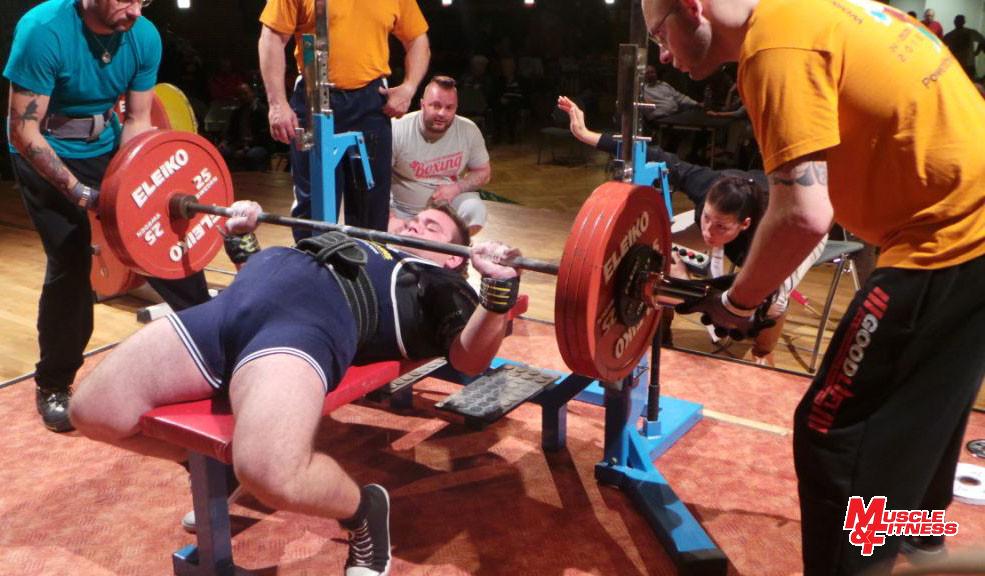 Dániel Dömötör (benčpres 180 kg)