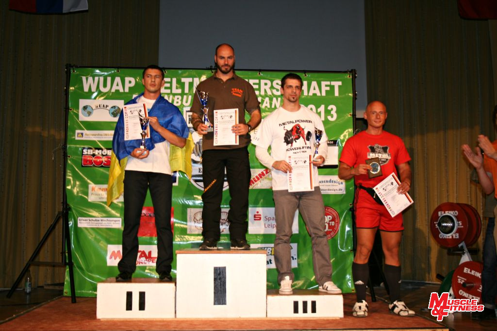 Zdeněk Hrach obsadil bronzovou příčku v trojboji kategorie open do 82,5 kg.