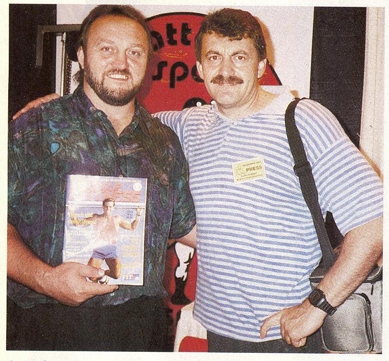 Náš nestárnoucí šéfredaktor je zvěčněn spolu s Billem Kazmaierem na Mr. Olympia 1993 v Atlantě. Závodníkovi, silákovi i oběma šéfredaktorům přejeme všechno nejlepší!