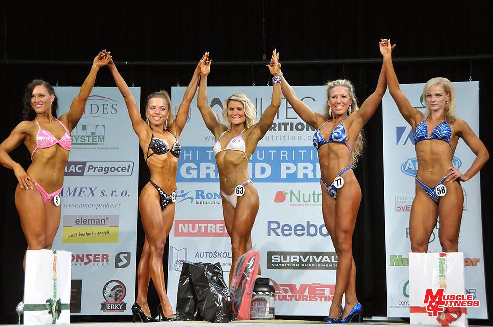 Bodyfitness: 4. Žižková, 2. Štěrbová, 1. Mazačová, 3. Tužilová, 5. Stejskalová