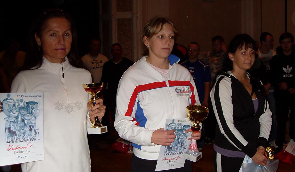 Medailové trio v soutěži žen (zleva): 2. Václava Zodererová, 1. Jana Szmigielová, 3. Hana Ježková.