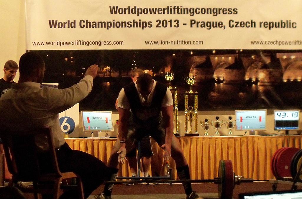 Martin Beránek a jeho záverečný pokus súťaže 290 kg.