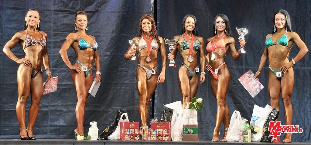 Bodyfitness do 163 cm: 6. Lacková, 4. Vaneková, 3. Focková, 1. Šarišská, 2. Peťková, 5. Blahušiaková.