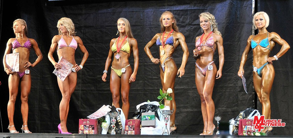 Bodyfitness nad 163 cm: 6. Sojková, 4. Borchová, 2. Tichá, 1. Hubková, 3. Kvasničková, 5. Paračková.