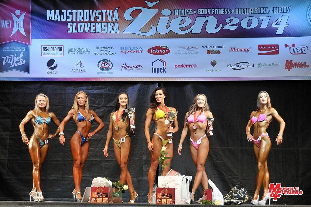 Fitness: (zleva) 6. Kubovčíková, 4. Krafčíková, 2. Kožuchová, 1. Sečkárová- Bunčáková, 3. Lisziová, 5. Bániková.
