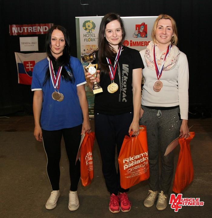 Účastníčky zápolenia junioriek (zľava): Lýdia Dvorská, Erika Hanková, Michaela Idešicová.