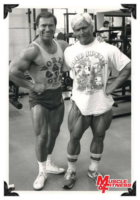 Larry Scott a Tom Platz