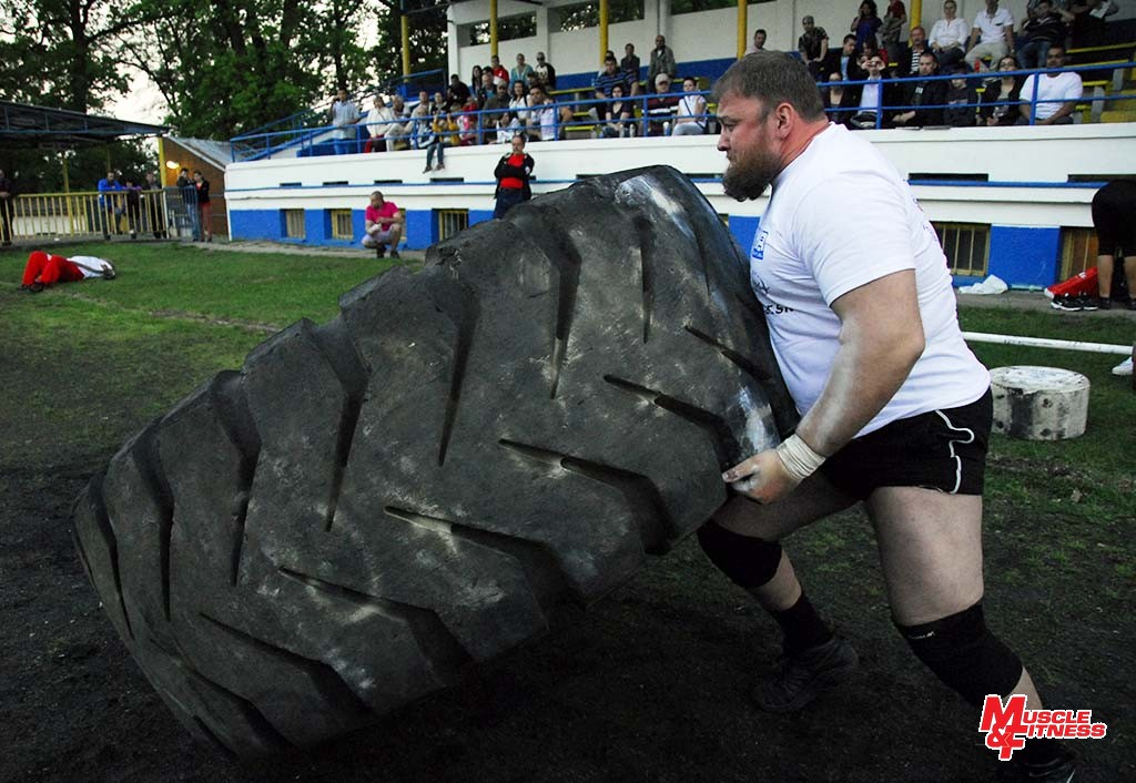 Ivan Hryhorovskyj (otáčanie pneumatiky)