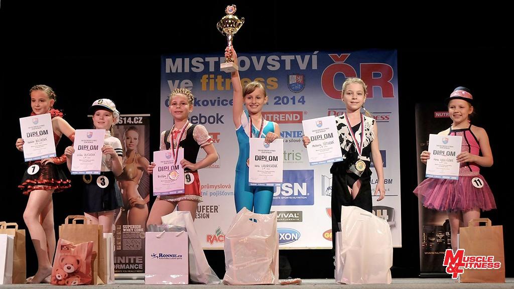 Fitness dívek (mladší): 6. Bílíková, 4. Plicková, 2. Dubcová, 1. Laurichová, 3. Tóthová, 5. Holišová.