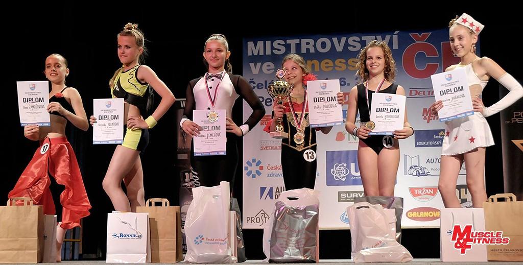 Fitness dívek (starší): 6. Žambůrková, 4. Pekařová, 2. Remešová, 1. Pokorná, 3. Kohoutová, 5. Knápková.