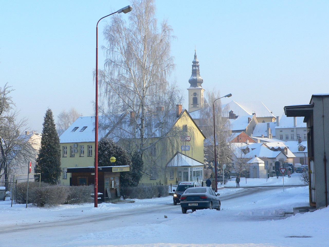 Česká Třebová dnes v zimě