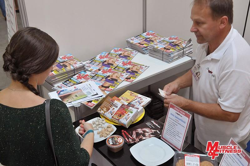 Na stánku se Šmakounem byly zdarma k dispozici propagační výtisky MUSCLE&FITNESS.
