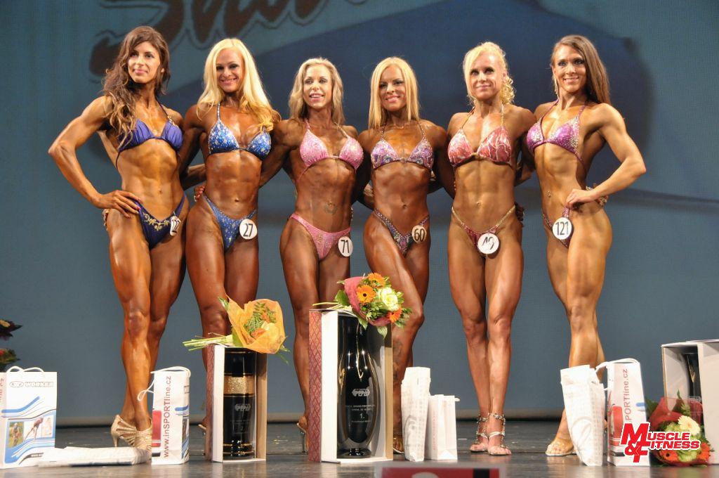 Bodyfitness: Vaculíková (6.), Varneliene (4.), Javorská (2.), Marcinkute (1.), Koumarová (3.), Ucińska (5.)