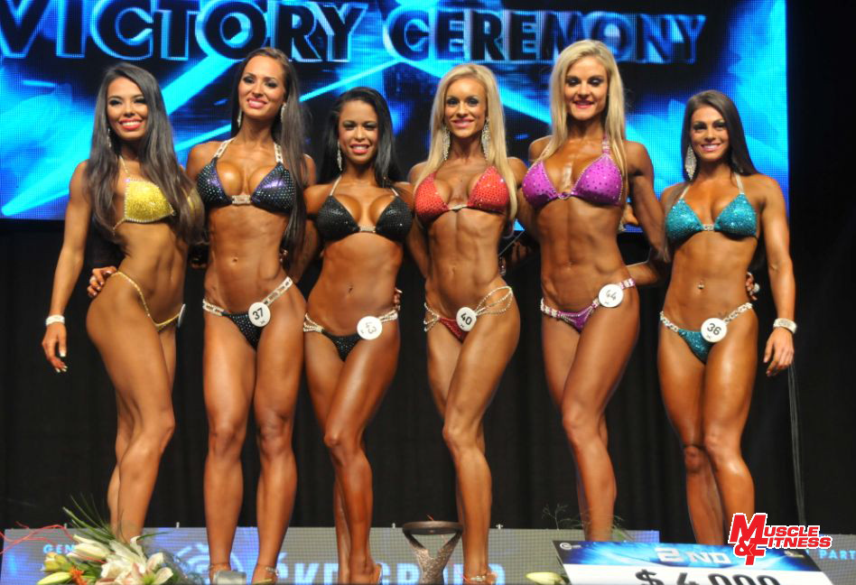 Bikini – vyhlášení: 5. Tandiljan, 3. Fjaere, 1. Paulino, 2. Oláh, 4. Krásová, 6. DeLuca.