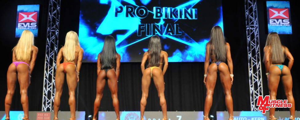 Bikini – finalistky: 4. Krásová, 2. Oláh, 1. Paulino, 5. Tandiljan, 3. Fjaere. 6. DeLuca.
