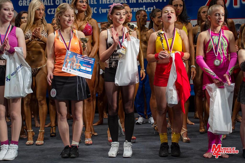 Fitness dětí (12–15 let): 5. Peyersfeldová, 2. Mičková, 1. Rubešová, 3. Kovaříková, 4. Patyi.