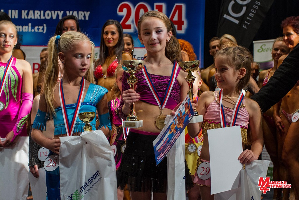 Fitness dětí (8–11 let): 3. Bánhidi, 1. Procházková, 2. Martin.