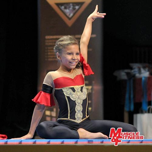 Eliška Pokorná, vítězka fitness starších dívek.