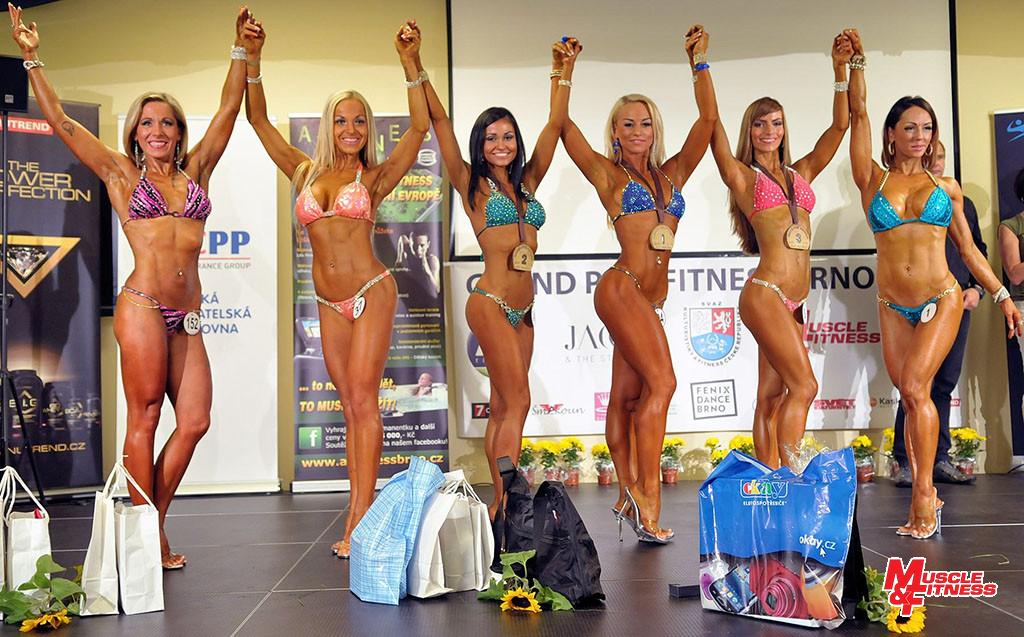 Bikini fitness do 164 cm: 6. Fantová, 4. Siváková, 2. Tarkuličová, 1. Ženíšková, 3. Šafářová, 5. Dědková.