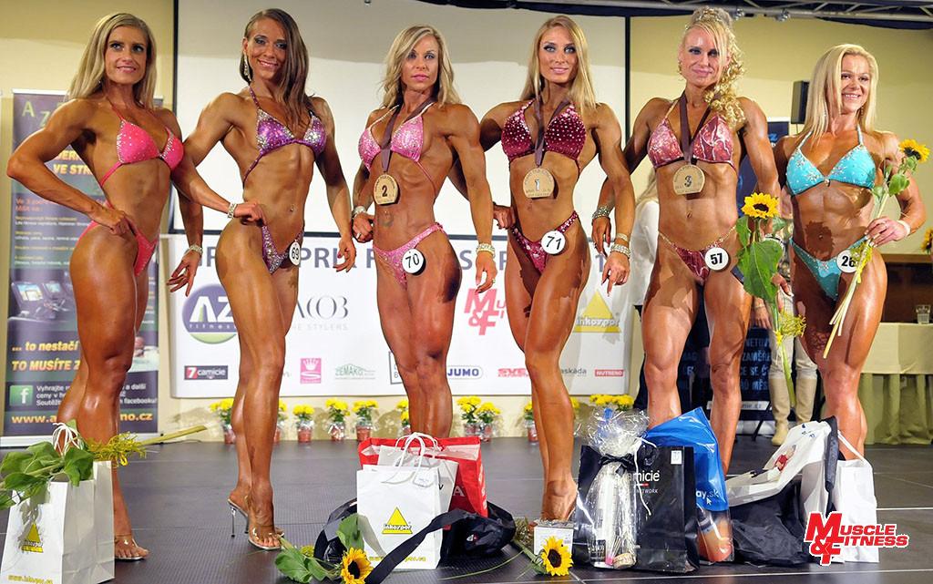 Bodyfitness (zleva): 6. Ludowicz, 4. Ucinska, 2. Javorská, 1. Ondrejovičová, 3. Koumarová, 5. Forysiak.
