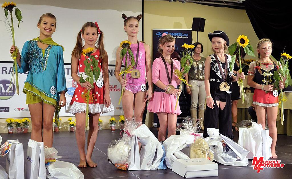 Fitness dívek (mladší): 6. Strojna, 4. Libá, 2. Kalašová, 1. Laurichová, 3. Tóthová, 5. Dubcová.