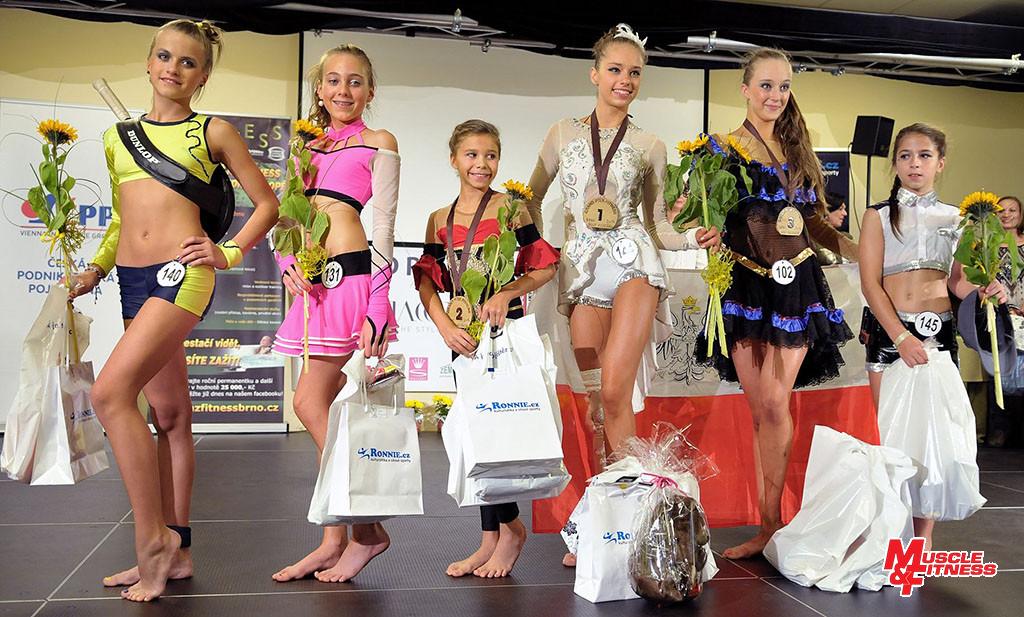 Fitness dívek (starší): 6. Pekařová, 4. Knápková, 2. Pokorná, 1. Kepa, 3. Sawiniec, 5. Bros.