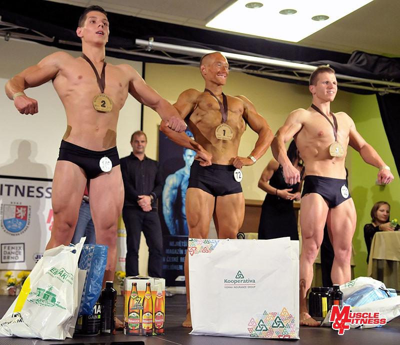 Fitness mužů: 2. Cina, 1. Daňa, 3. Dolák.