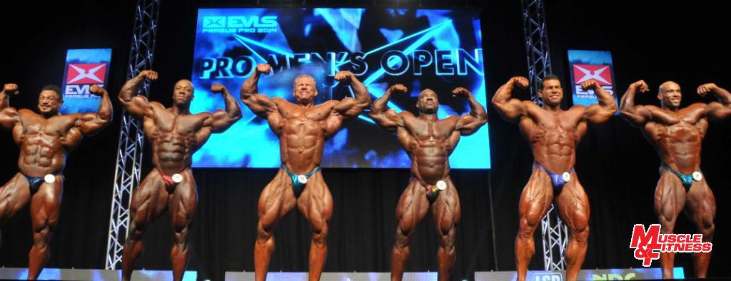 Bodybuilding open – finalisté: 4. Winklaar, 3. Rhoden, 1. Wolf, 2. D. Jackson, 5. Kuclo, 6. Morel.