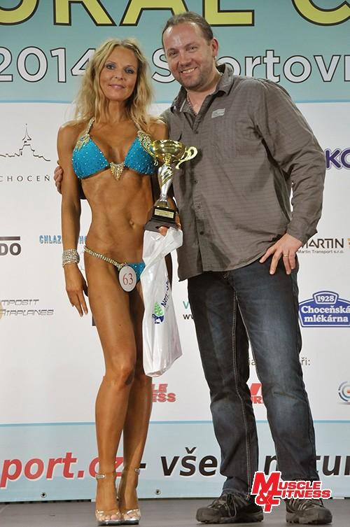 Cenu sympatie obdržela česká závodnice v bikini fitness do 167 cm Šárka Čejková.
